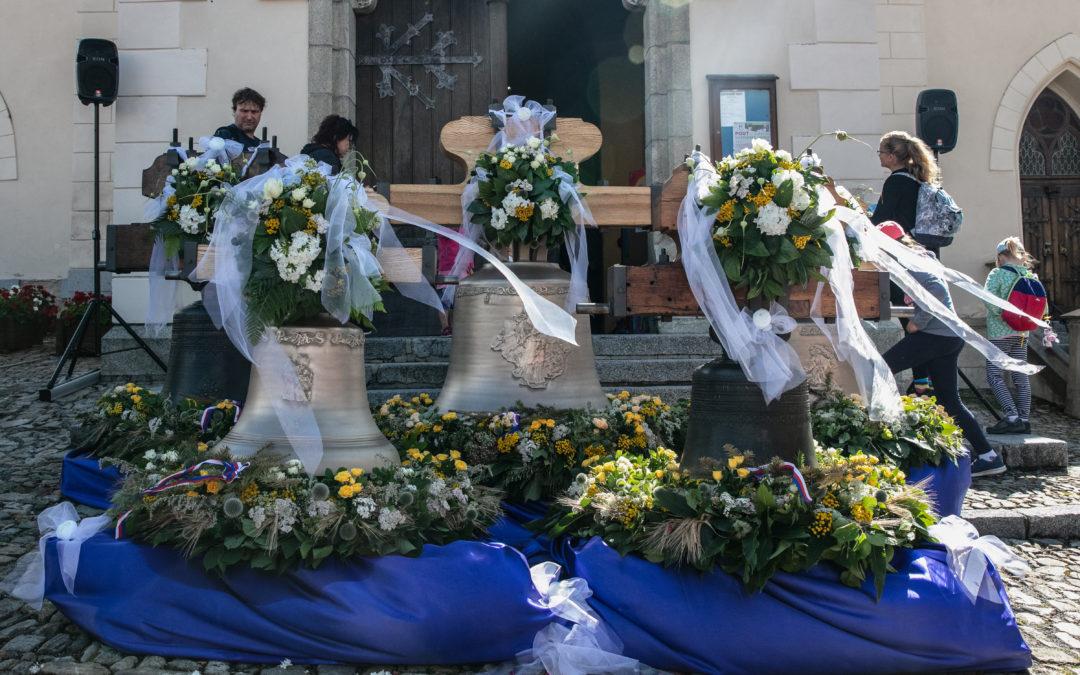 Svěcení zvonů Kašperské Hory kostel sv.Markéty